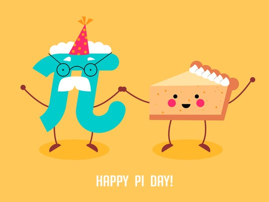 Celebrate Pi Day. Mathematical constant. March 14th (3/14).