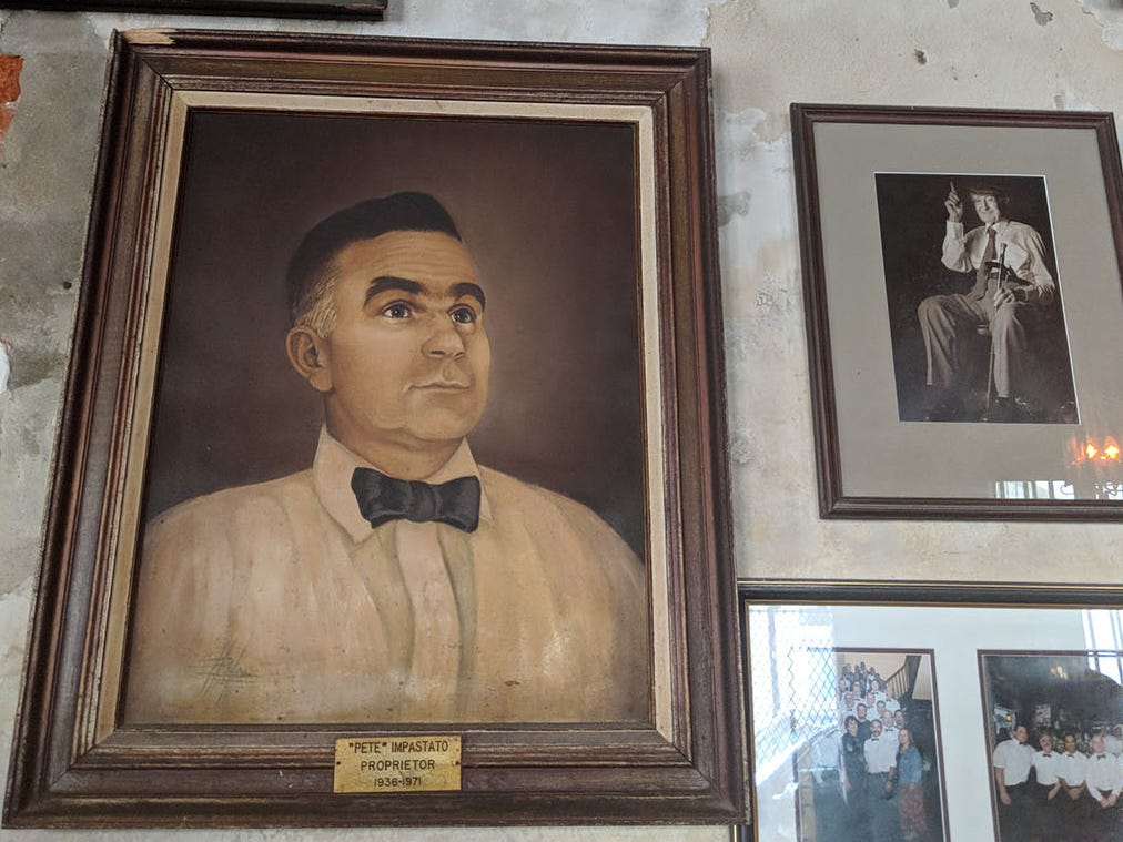 The Napoleon House retains memories of previous owners the Impastato family.