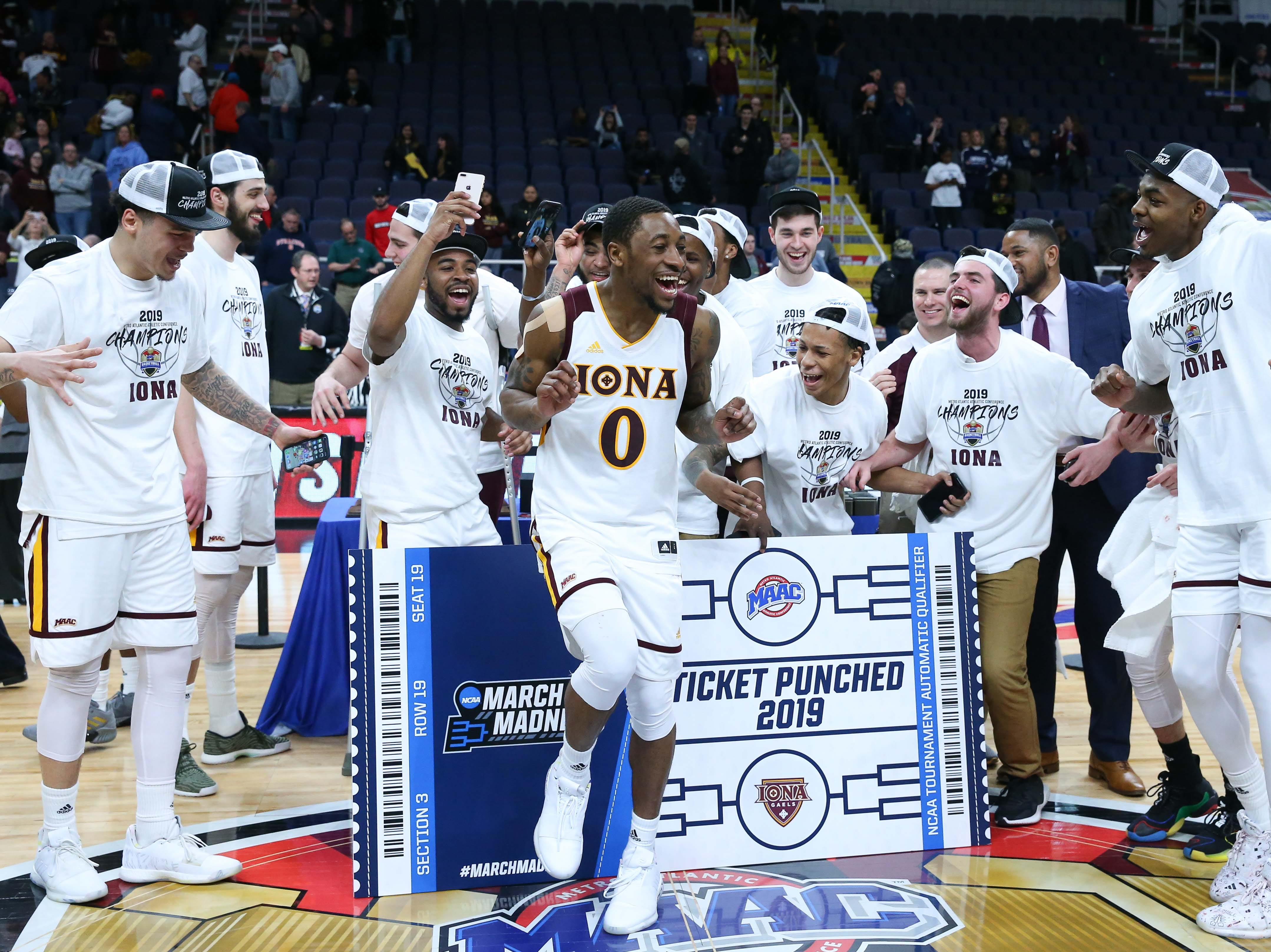 Iona (17-15), No. 16 seed in Midwest, Metro Atlantic Athletic Conference champion