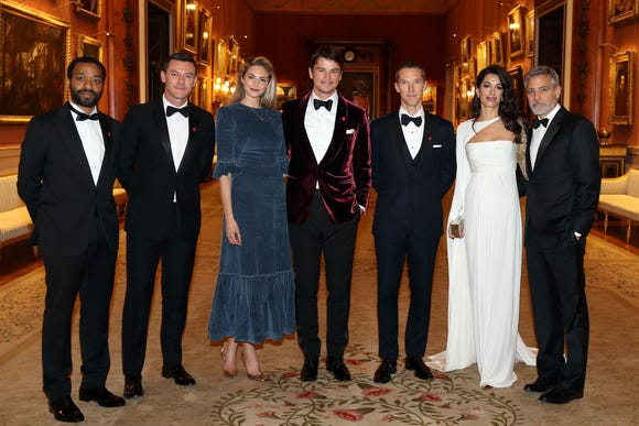Chiwetel Ejiofor, Luke Evans, Tamsin Egerton, Josh Hartnett, Benedict Cumberbatch, Amal Clooney and George Clooney attend a dinner to celebrate The Prince's Trust.
