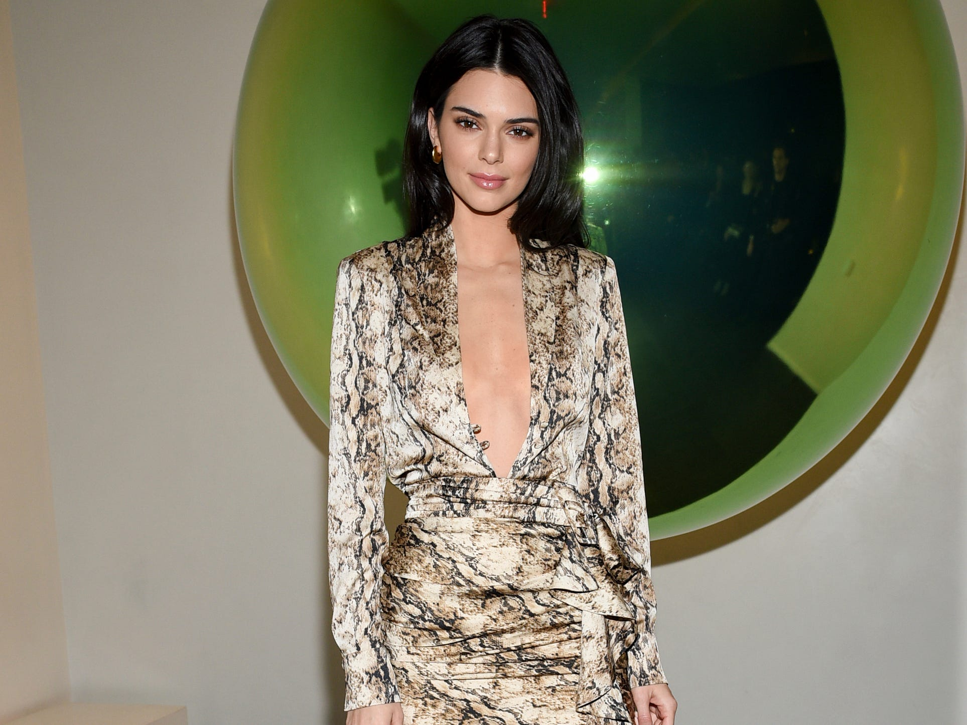 Model Kendall Jenner attends the grand opening of The Times Square Edition hotel on Tuesday, March 12, 2019, in New York. (Photo by Evan Agostini/Invision/AP) ORG XMIT: NYEA110