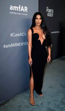 epa07349041 Kim Kardashian West attends the amfAR New York Gala 2019 at Cipriani Wall Street  USA, 06 February 2019. The charity event benefits the Foundation's AIDS research programs.  EPA-EFE/JASON SZENES ORG XMIT: JSX01