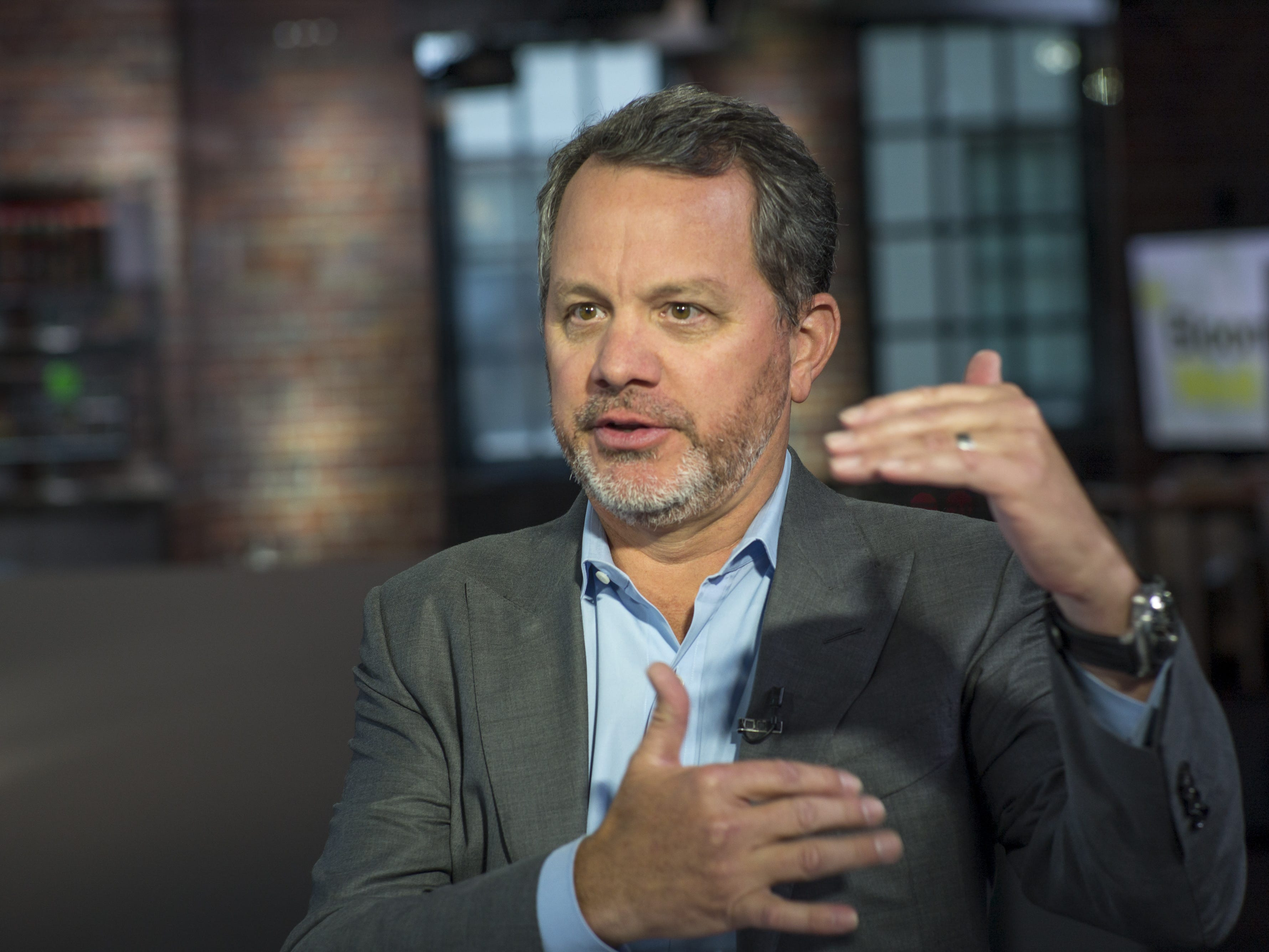"""William """"Bill"""" McGlashan, founder and managing partner of TPG Growth LLC, speaks during a Bloomberg West television interview in San Francisco, Calif., on Thursday, Aug. 18, 2016."""