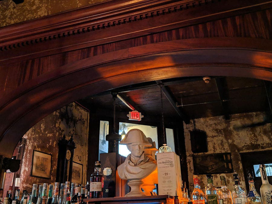 Napoleon House is known for its Napoleon memorabilia and quality cocktails—particularly the Pimm's Cup.