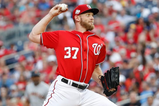 50. Stephen Strasburg, Washington Nationals pitcher.