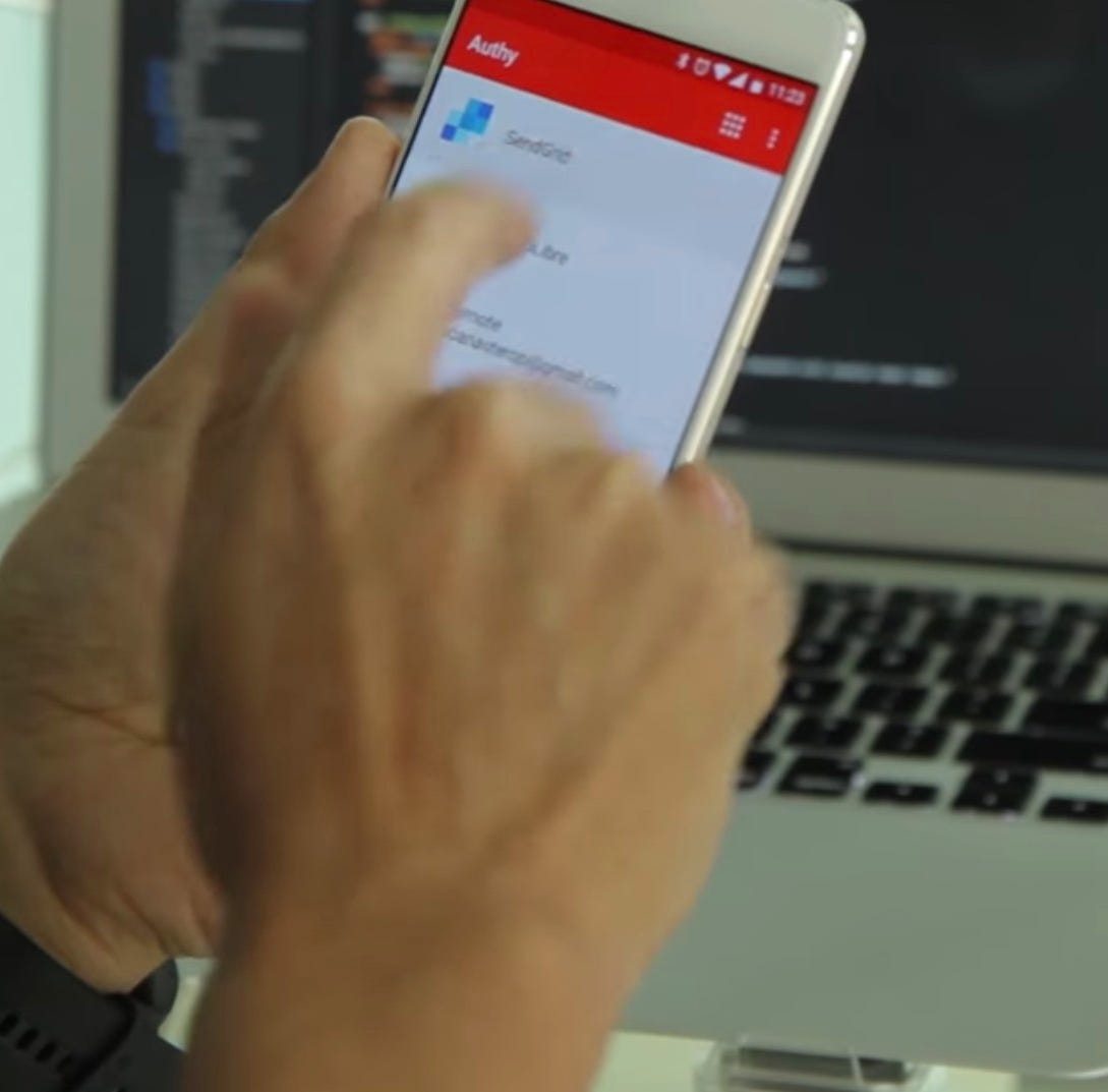 Authy is an app for two-factor authentication