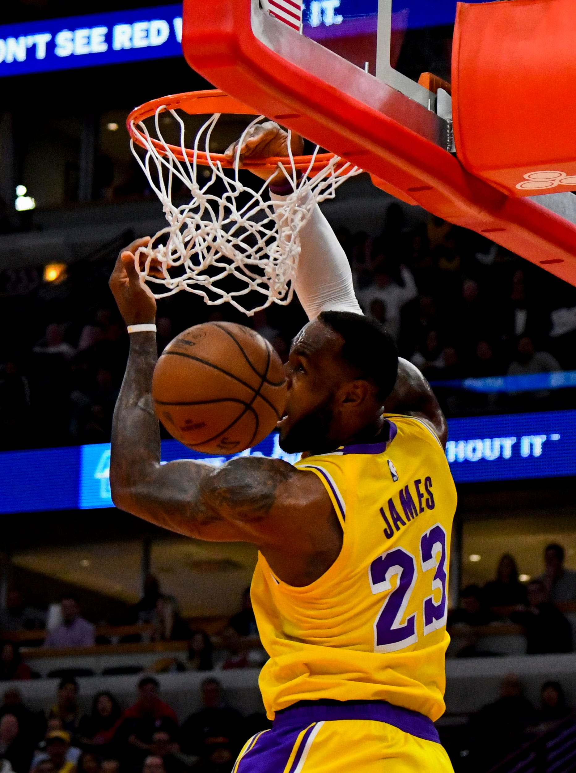 LeBron James, who announced July 1 he would sign with the Lakers, has had an up-and-down first year in L.A.