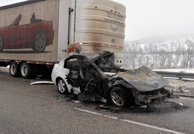 Lara Gass died in a car fire Tuesday morning, March 18, 2014, on northbound Interstate 81 after a chain reaction wreck during icy conditions.
