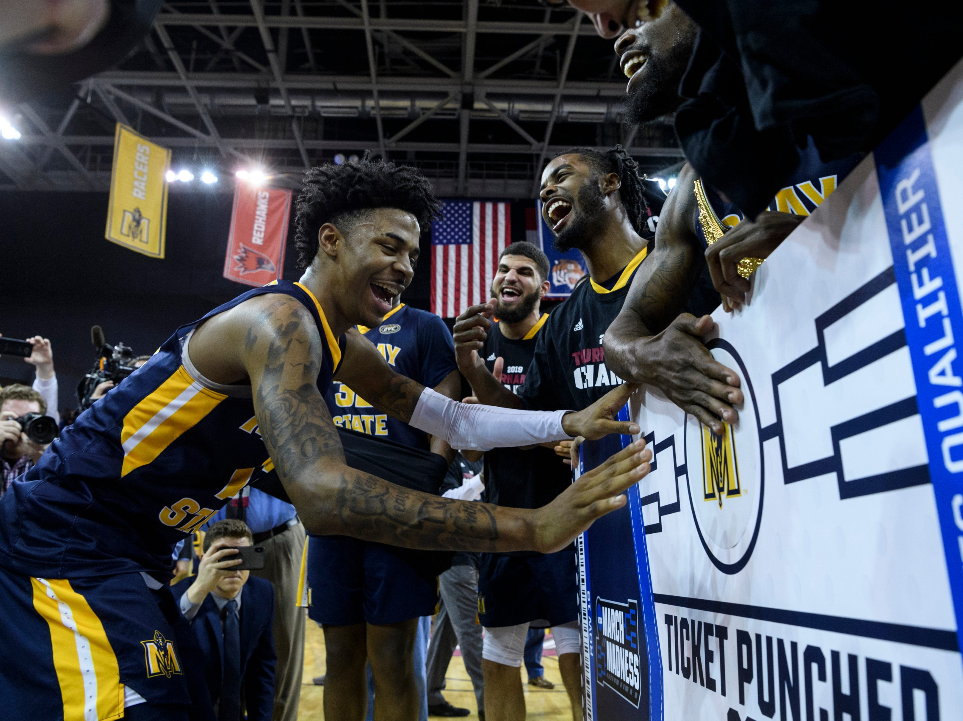 Murray State (27-4), No. 12 seed in West, Ohio Valley Conference champion