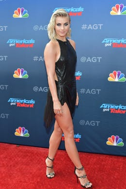 """PASADENA, CALIFORNIA - MARCH 11: Julianne Hough attends NBC's """"America's Got Talent"""" Season 14 Kick-Off at Pasadena Civic Auditorium on March 11, 2019 in Pasadena, California. (Photo by Amy Sussman/Getty Images) ORG XMIT: 775305562 ORIG FILE ID: 1135216833"""