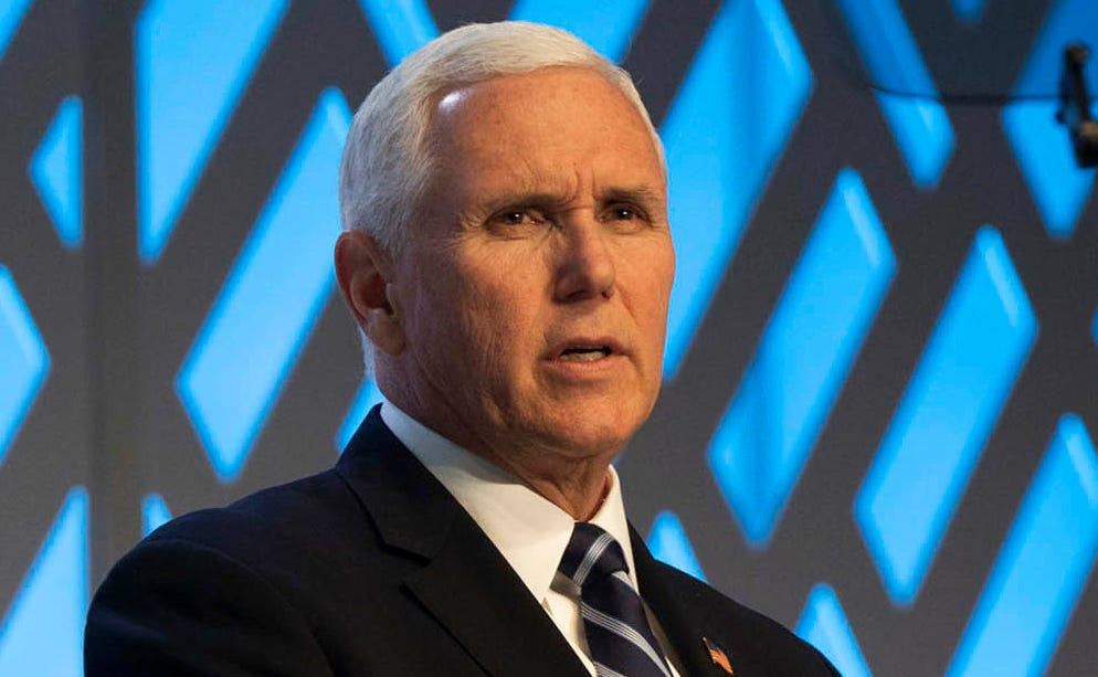 Vice President Mike Pence speaks at The Phoenician resort, in Scottsdale, Arizona, March 5, 2019.