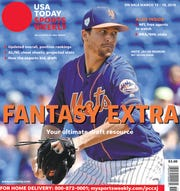 2018 NL Cy Young Award winner Jacob deGrom of the New York Mets is one of four regional cover subjects for USA TODAY Sports Weekly's annual Fantasy Extra issue.