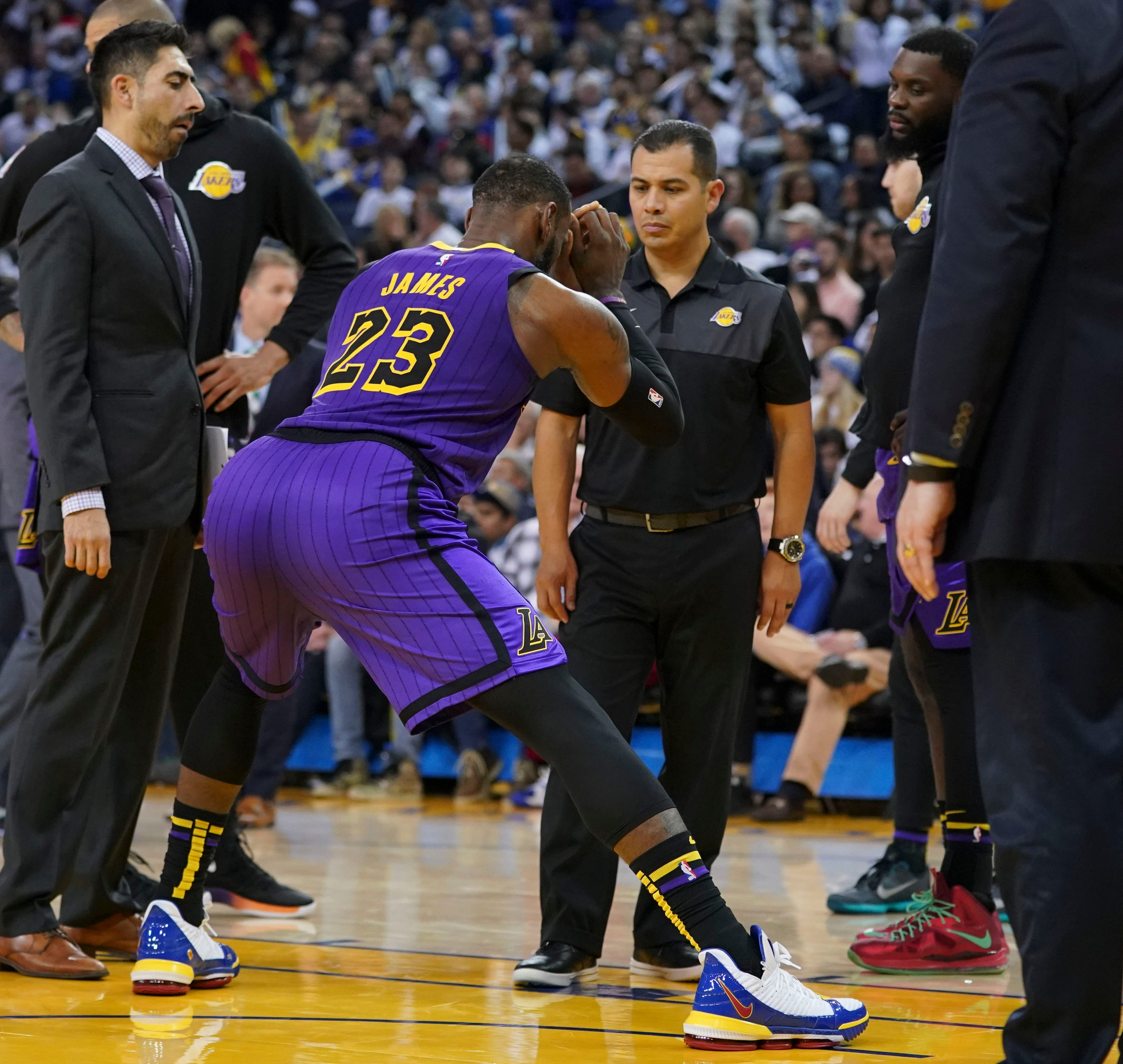 LeBron James suffered a groin injury during the Christmas Day game against Golden State. The Lakers went 6-11 during his absence.
