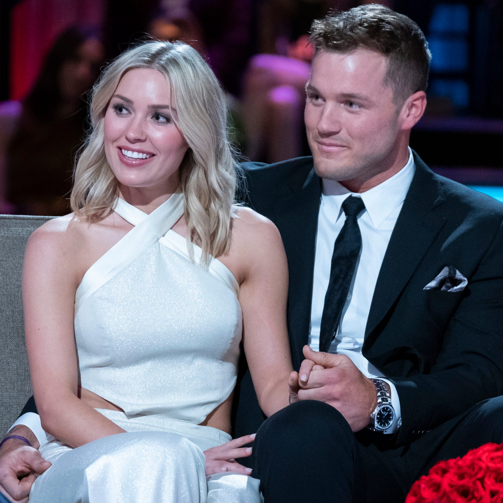 """Bachelor"" couple Cassie Randolph and Colton Underwood"