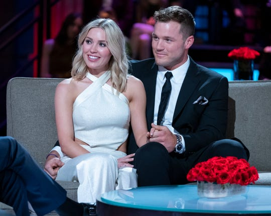 """""""Bachelor"""" couple Cassie Randolph and Colton Underwood"""