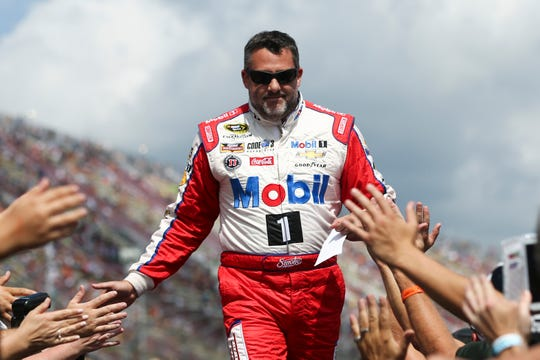 Tony Stewart, shown here at Michigan International Speedway in 2016, won 49 races and three championships during his NASCAR Cup Series career.