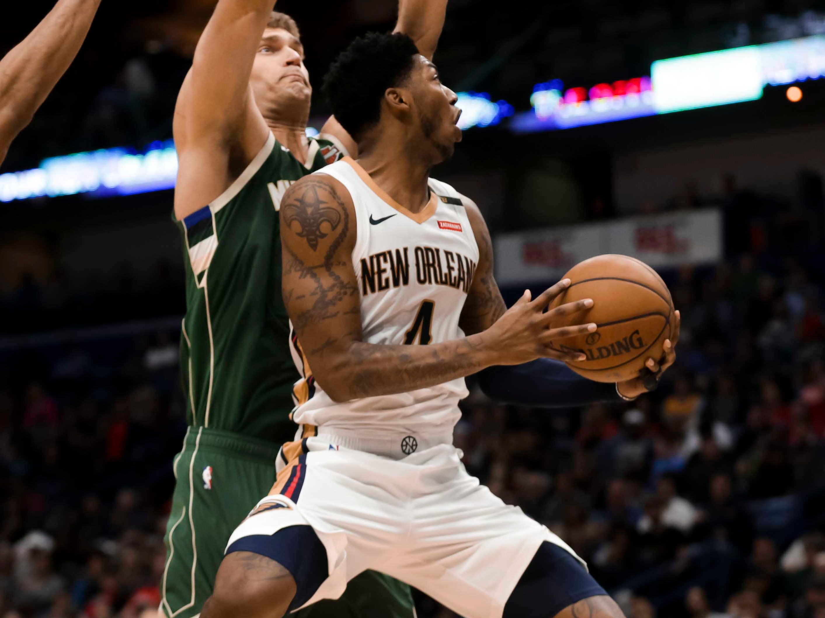 98.Elfrid Payton, Pelicans (March 12): 14 points, 15 assists, 11 rebounds in 130-113 loss to Bucks (third of season).