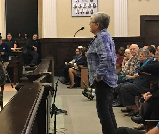 Anderson resident Barbara Barham told members of the state Public Service Commission that Duke Energy's proposed rate increase will hurt impoverished customers.
