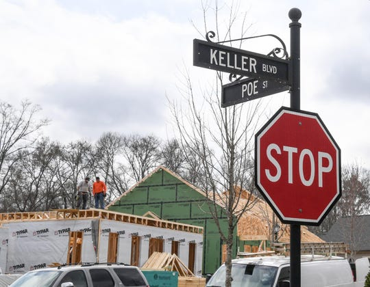 Construction at homes at Patrick Square off of Issaqueena Trail in Clemson Thursday.