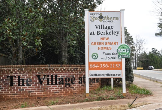 The Village at Berkeley are new homes, listed  around $280,000 each, off of Berkeley Drive in Clemson Thursday.