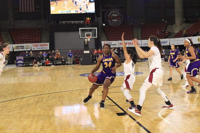 LSUA freshman Aja Law scored a career-high 27 points in the Generals' first round upset against Westmont Wednesday in the NAIA Tournament.