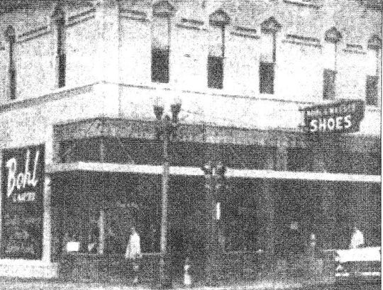 The building at 201 N. Appleton St. in Appleton was once the Bohl and Maeser Shoe Store. This photograph is likely from the 1940s or '50s.