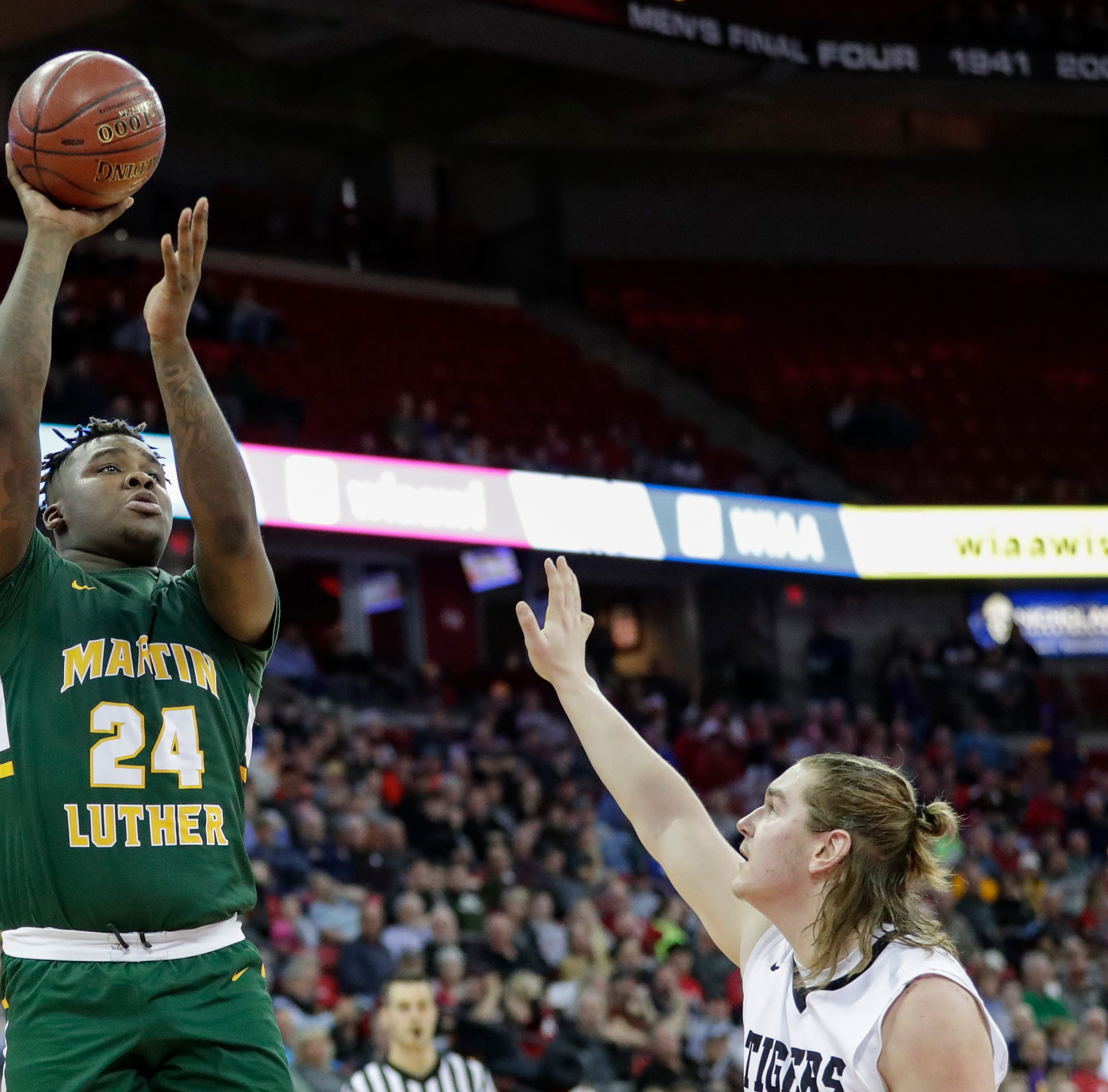 "WIAA State Basketball: Academy of Lourdes, New Glarus, Wapon, Martin Luther earns a winner ""class ="" more-segment stories"
