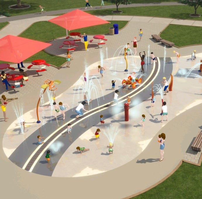 Neenah's planned splash pad draws inspiration from firefighters