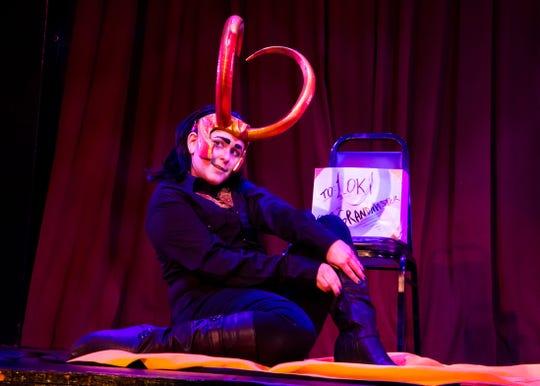 Burlesque performer Mx Macabe as Marvel character Loki.