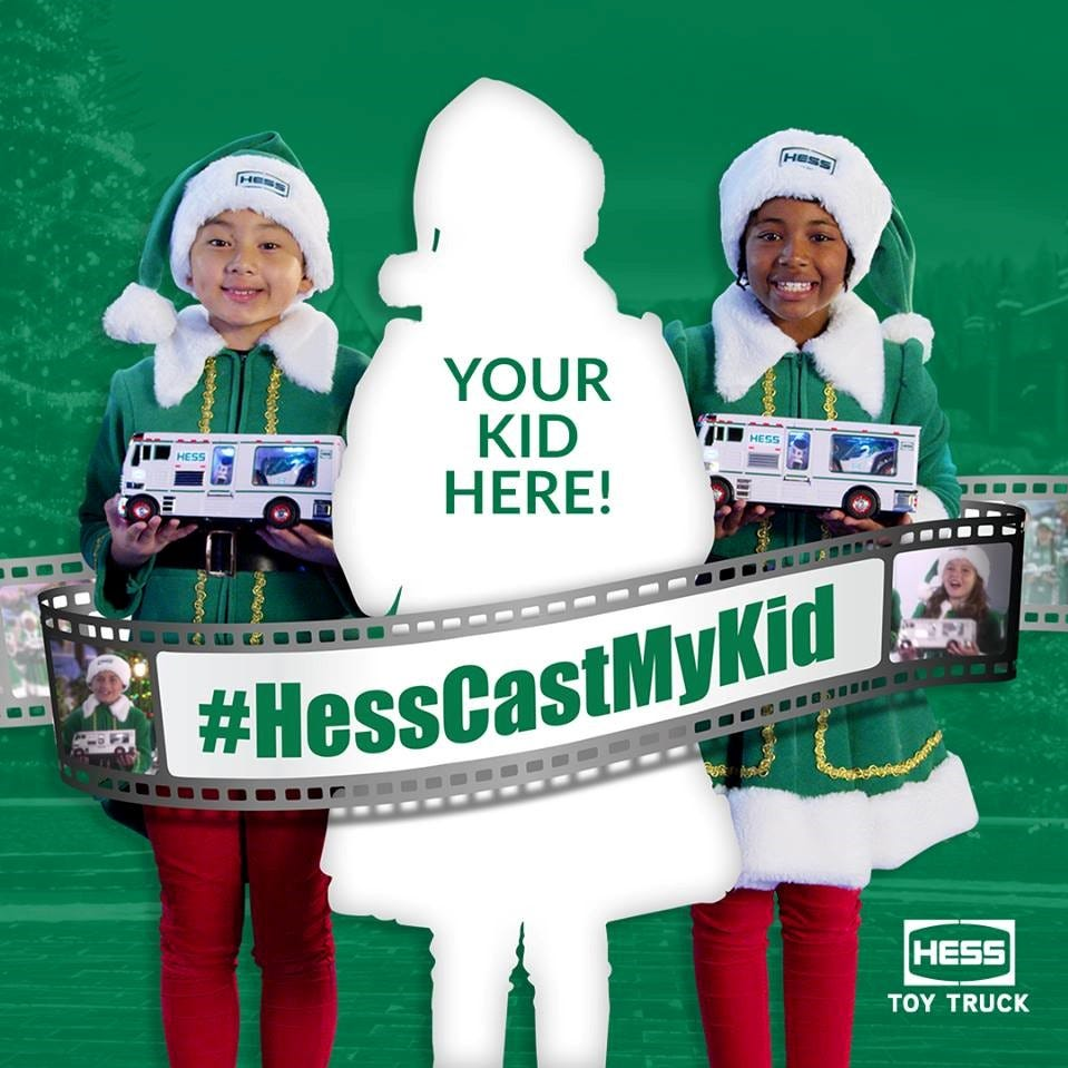 Hess toy truck commercial contest: Audition your child via Instagram
