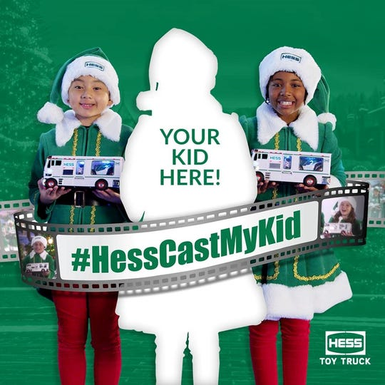 Picture your child in a national Hess toy truck commercial!