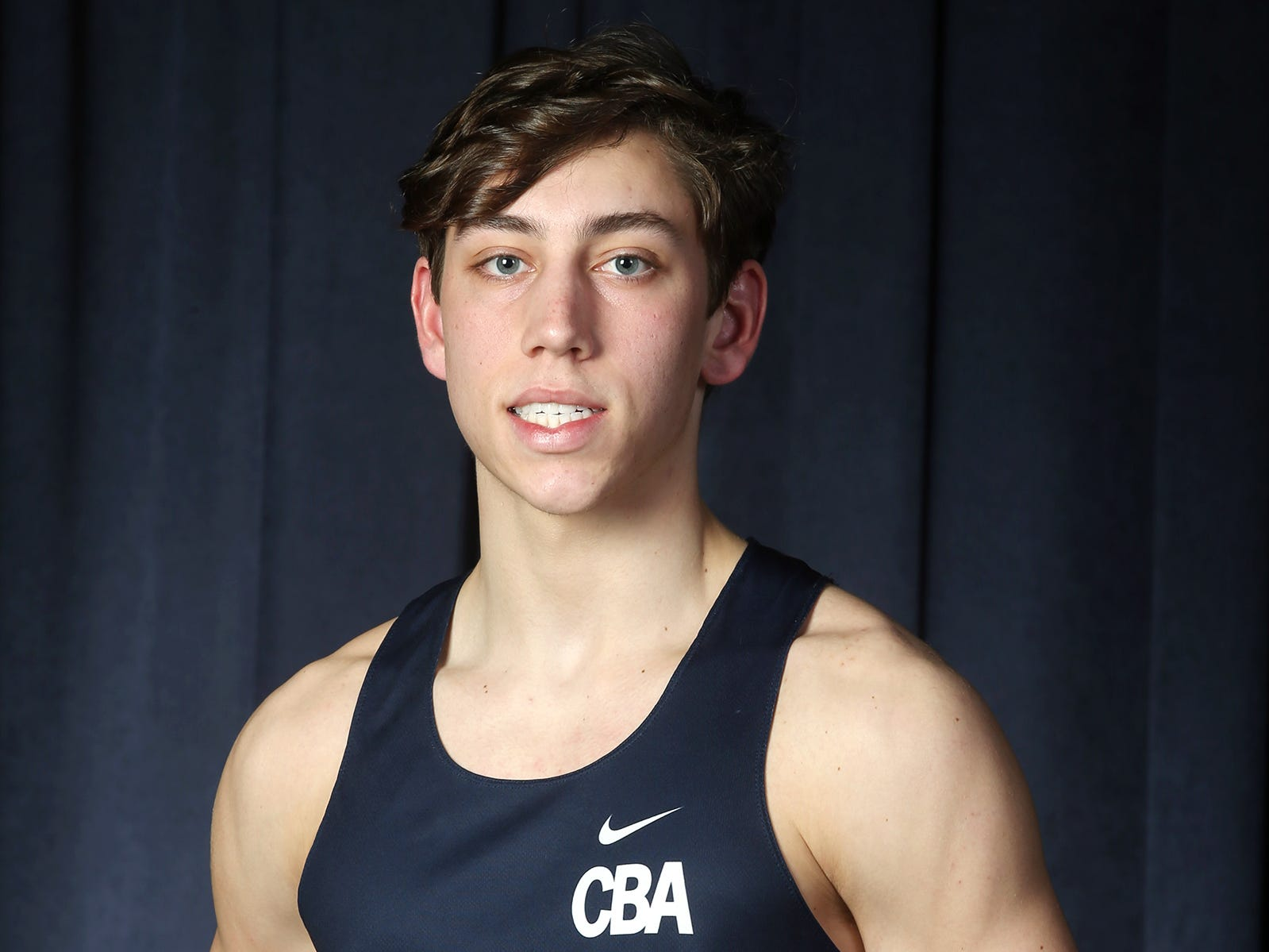 Liam O'Hara of CBA during the All-Shore boys track team photo shoot at the Asbury Park Press in Neptune, NJ Thursday, March 14, 2019.