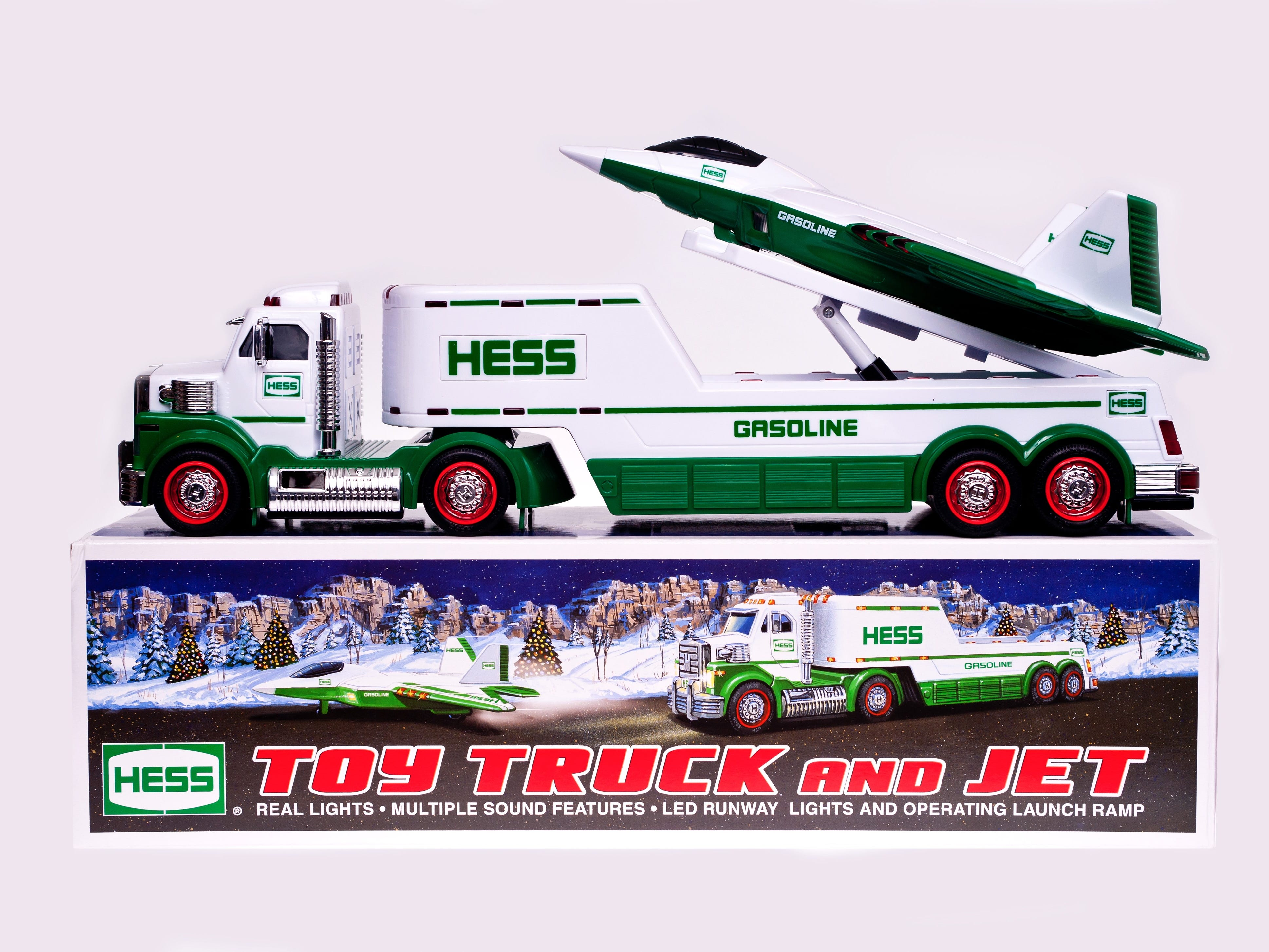 The 2010 Hess toy truck.