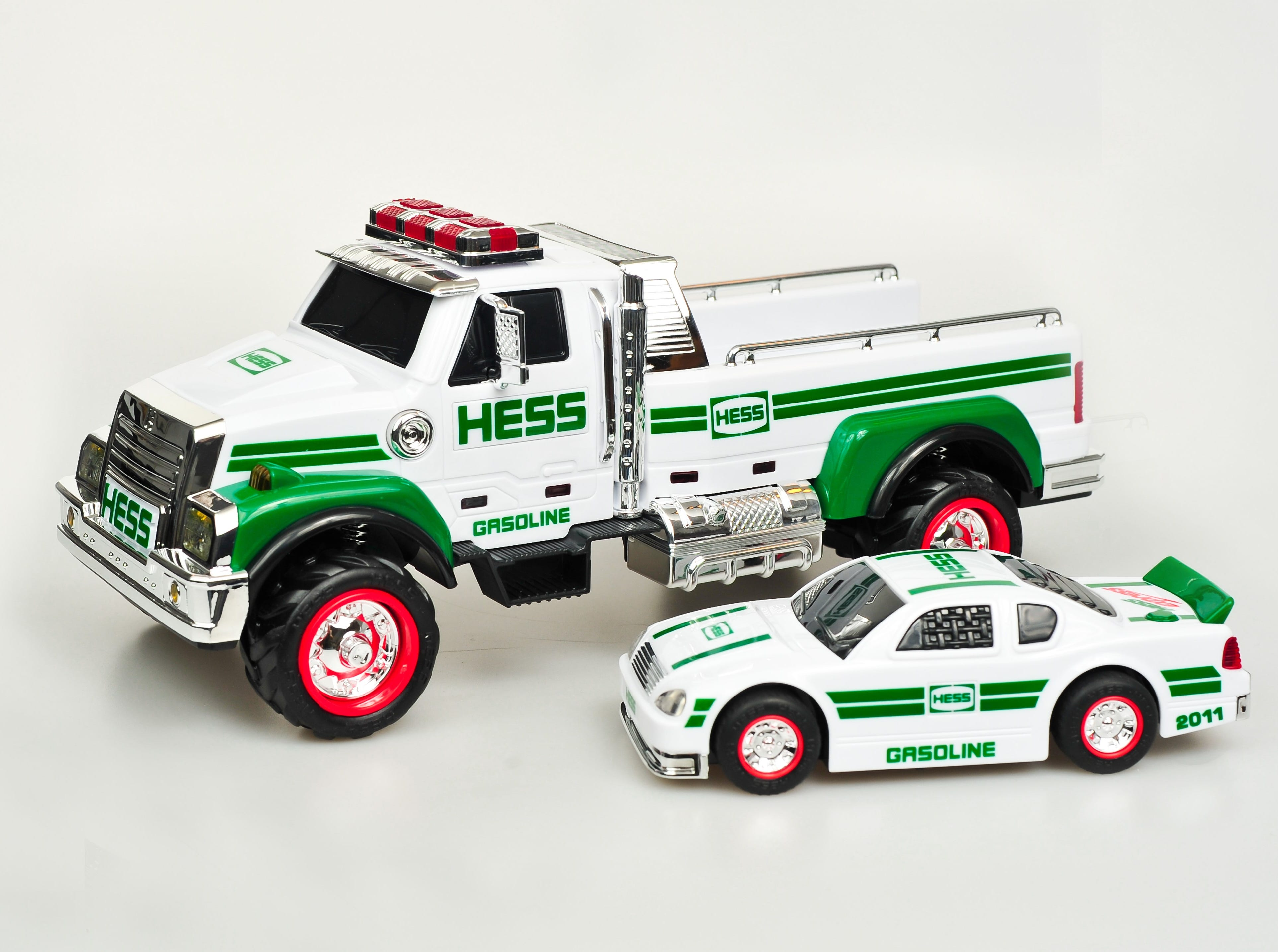 The 2011 Hess toy truck.