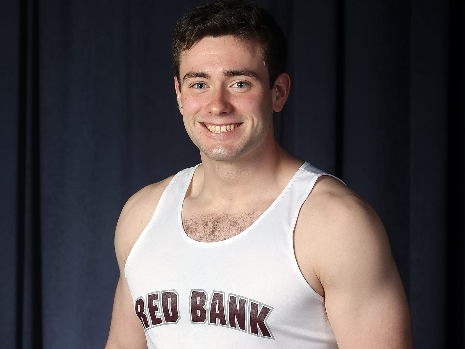 Brendan Loftus of Red Bank Regional during the All-Shore boys track team photo shoot at the Asbury Park Press in Neptune, NJ Thursday, March 14, 2019.