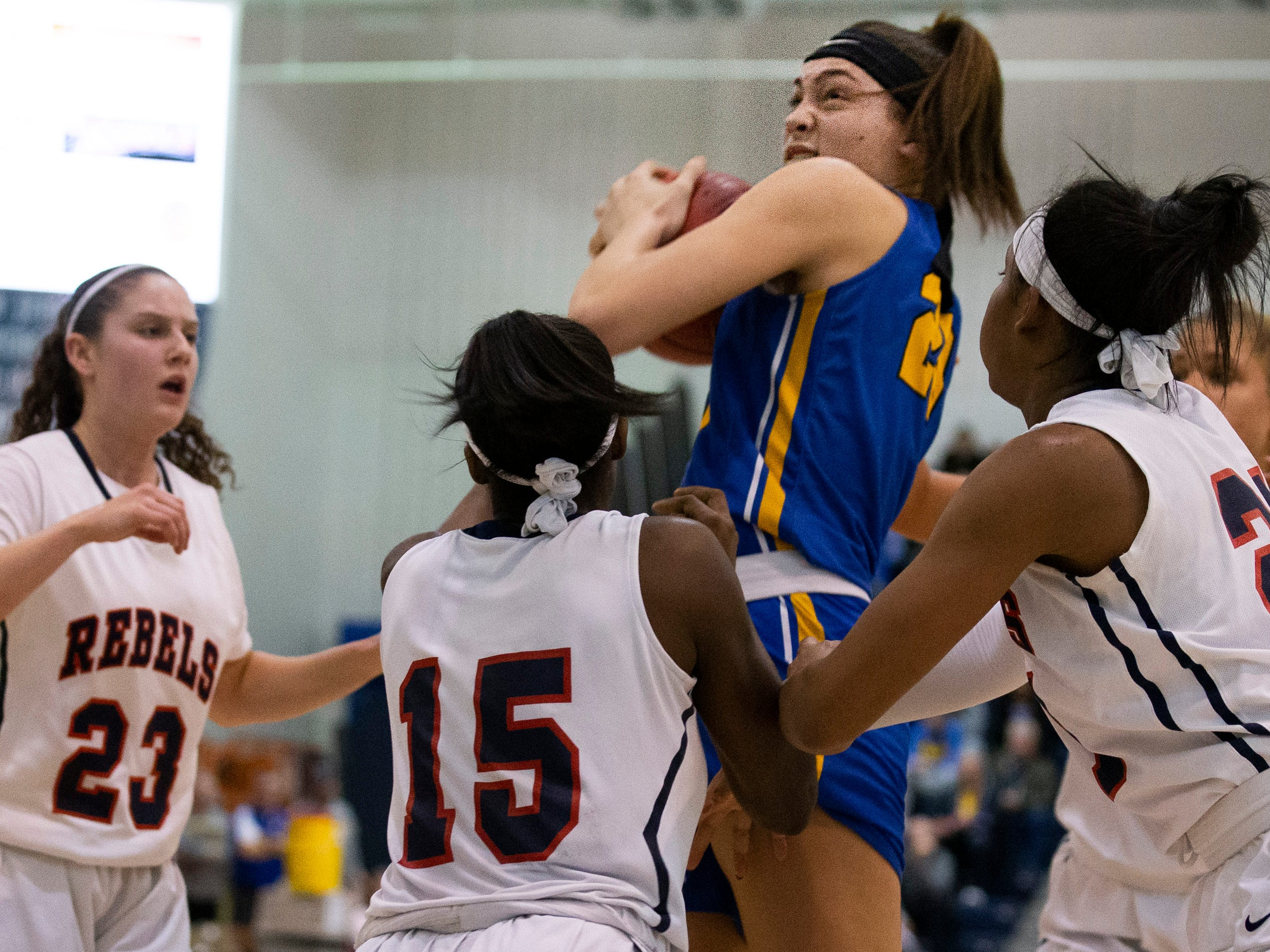 Manchester Girls Basketball vs Saddle River Day in NJSIAA Tournament of Champions Semifinal in Toms River on March 14, 2019.