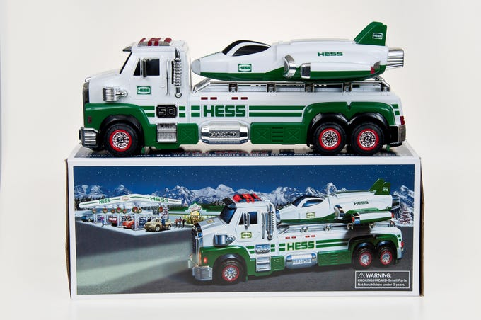 The 2014 Hess toy truck.