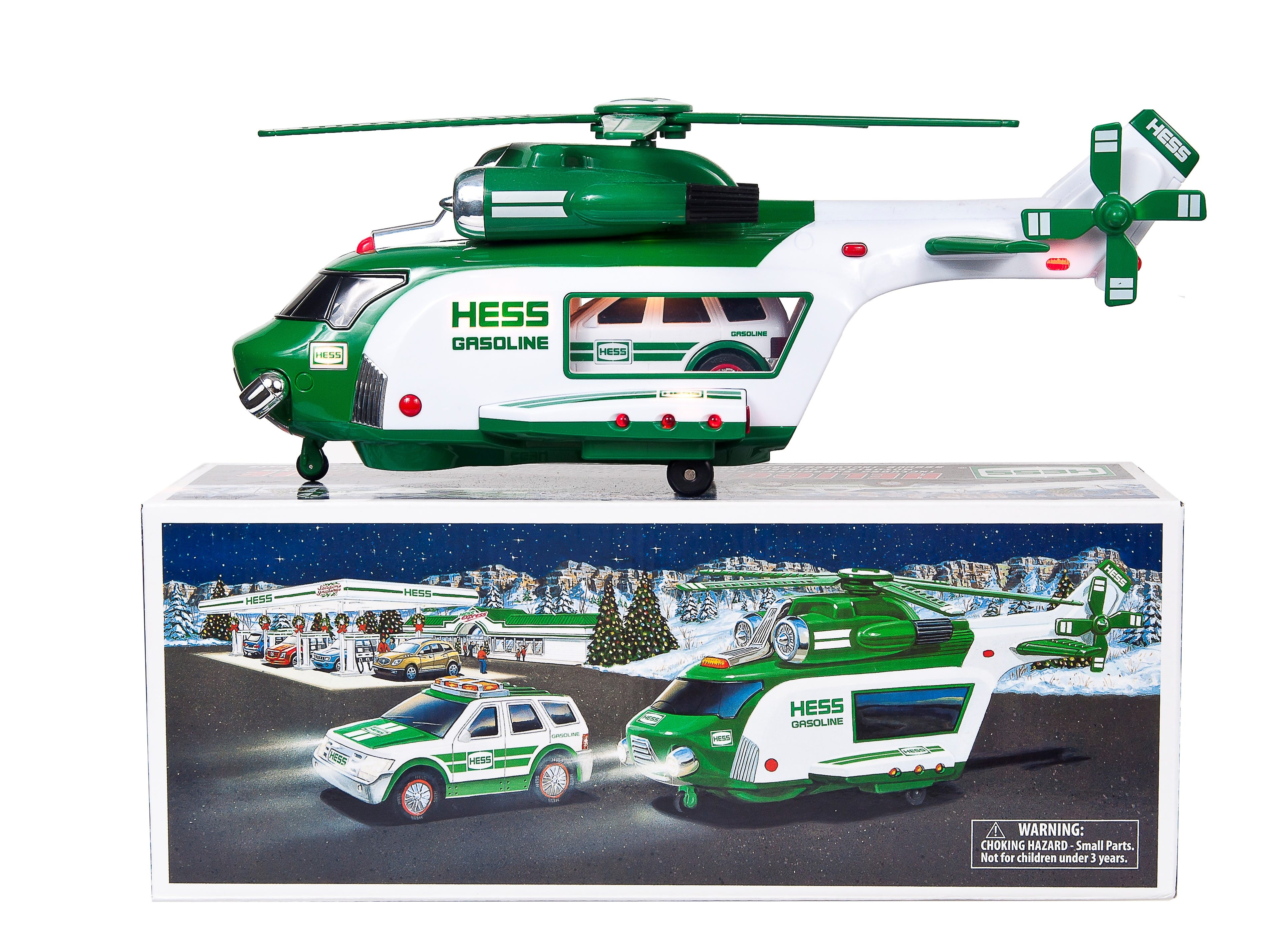 The 2012 Hess toy truck.