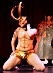 Burlesque performer Mx Macabe as Marvel character Loki.