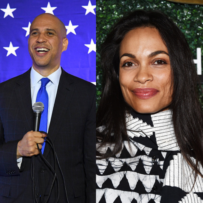Cory Booker and Rosario Dawson are officially dating