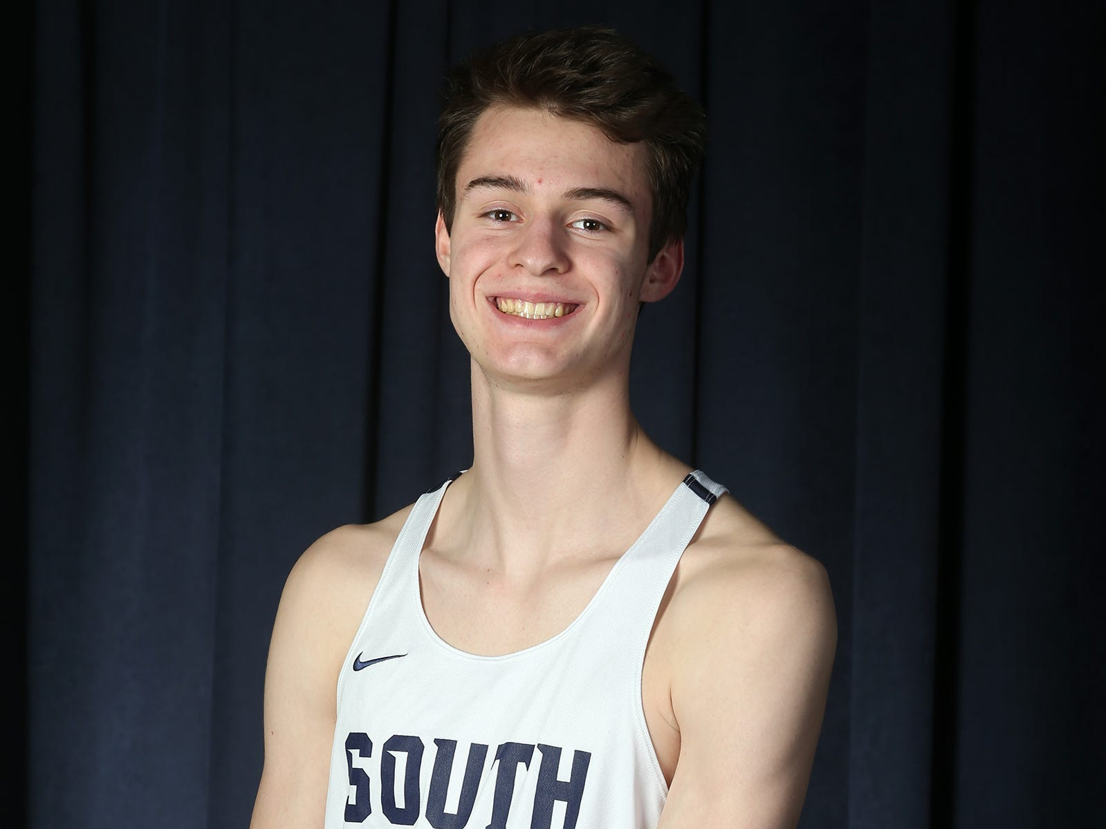 Mark Anselmi of Middletown South during the All-Shore boys track team photo shoot at the Asbury Park Press in Neptune, NJ Thursday, March 14, 2019.