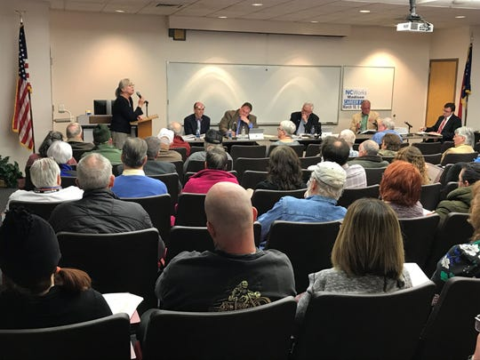Elizabeth Gullum was one of eight members of the public to speak at the March 12 meeting of the Madison County Board of Commissioners.