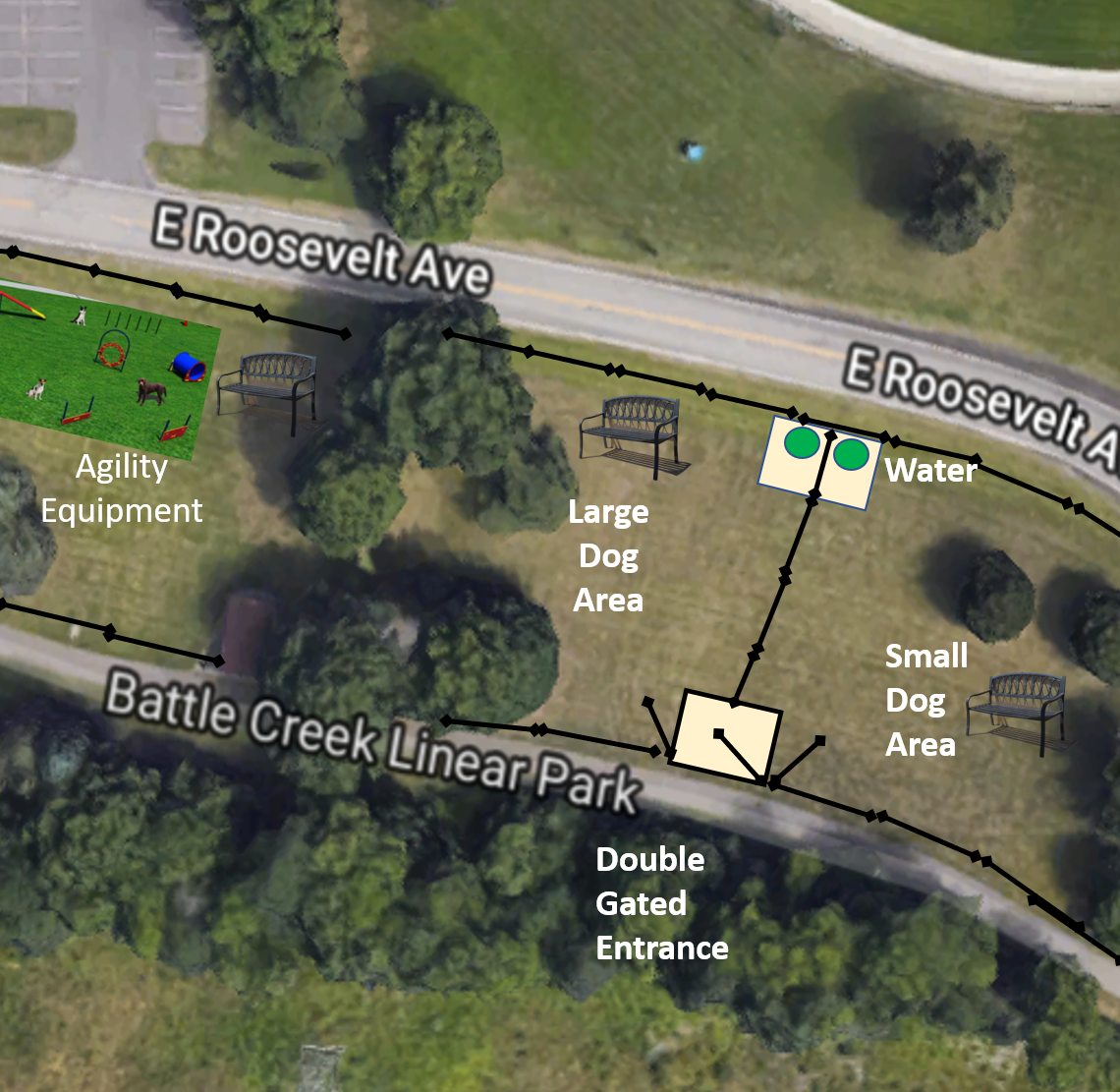 Battle Creek dog park project will receive matching MEDC grant if it can raise $30K by May 13
