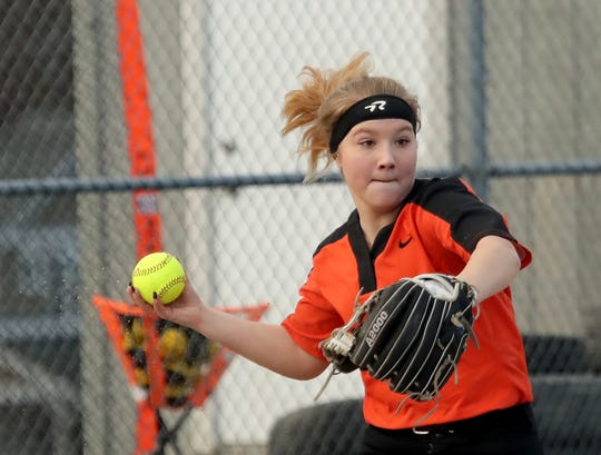 Central Kitsap freshman Mya Hunsaker and the Cougars picked up their first win Wednesday with a 12-9 victory over North Thurston.
