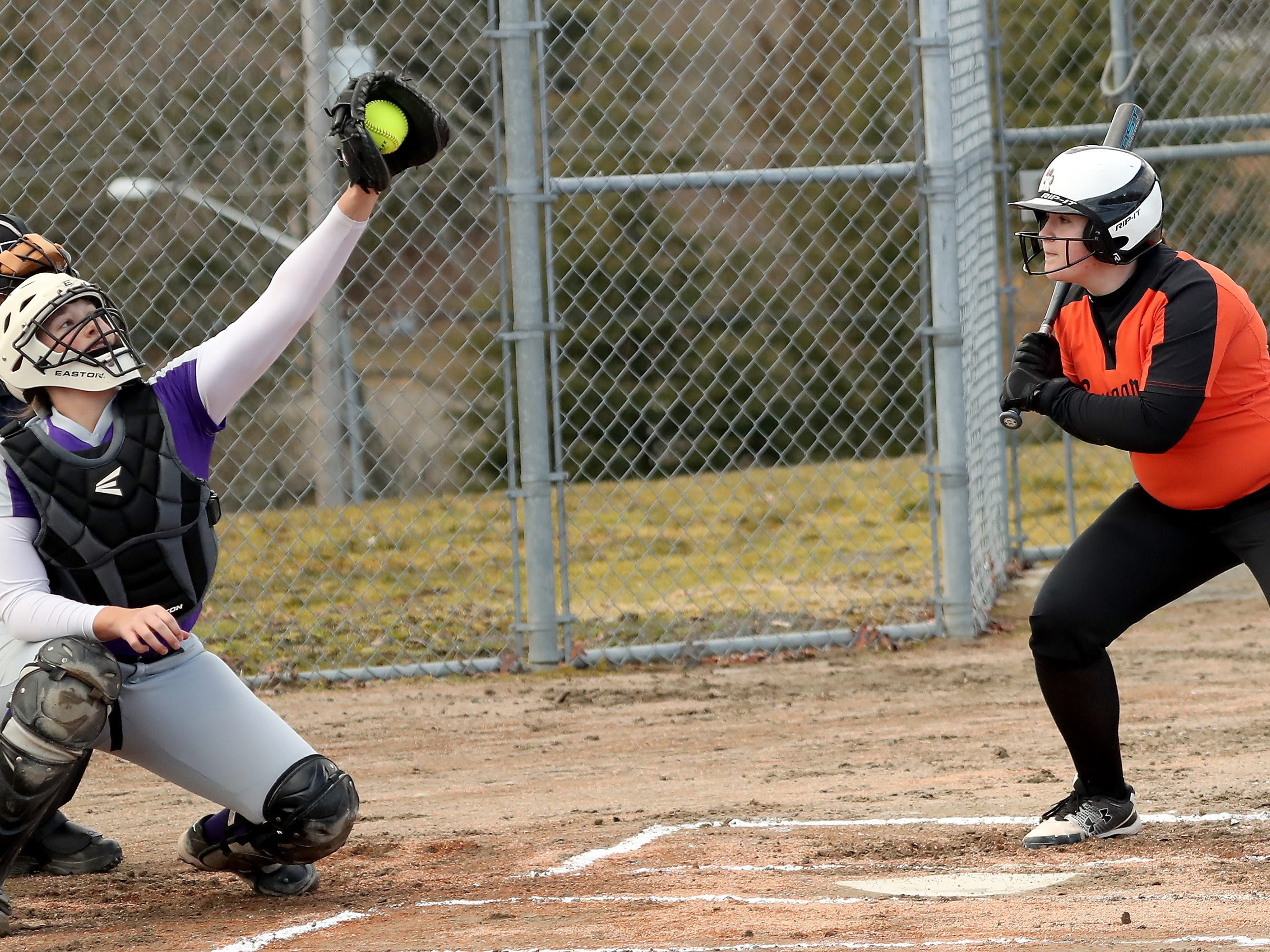 North Kitsap vs Central Kitsap Softball in Poulsbo on Wednesday, March 13, 2019.