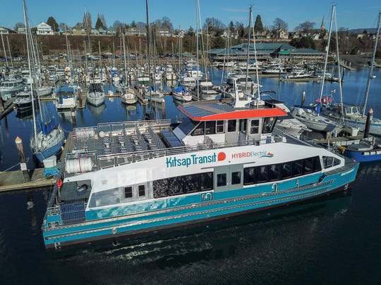 Kitsap Transit's hybrid-electric passenger ferry, the Waterman, is expected to be delivered soon.