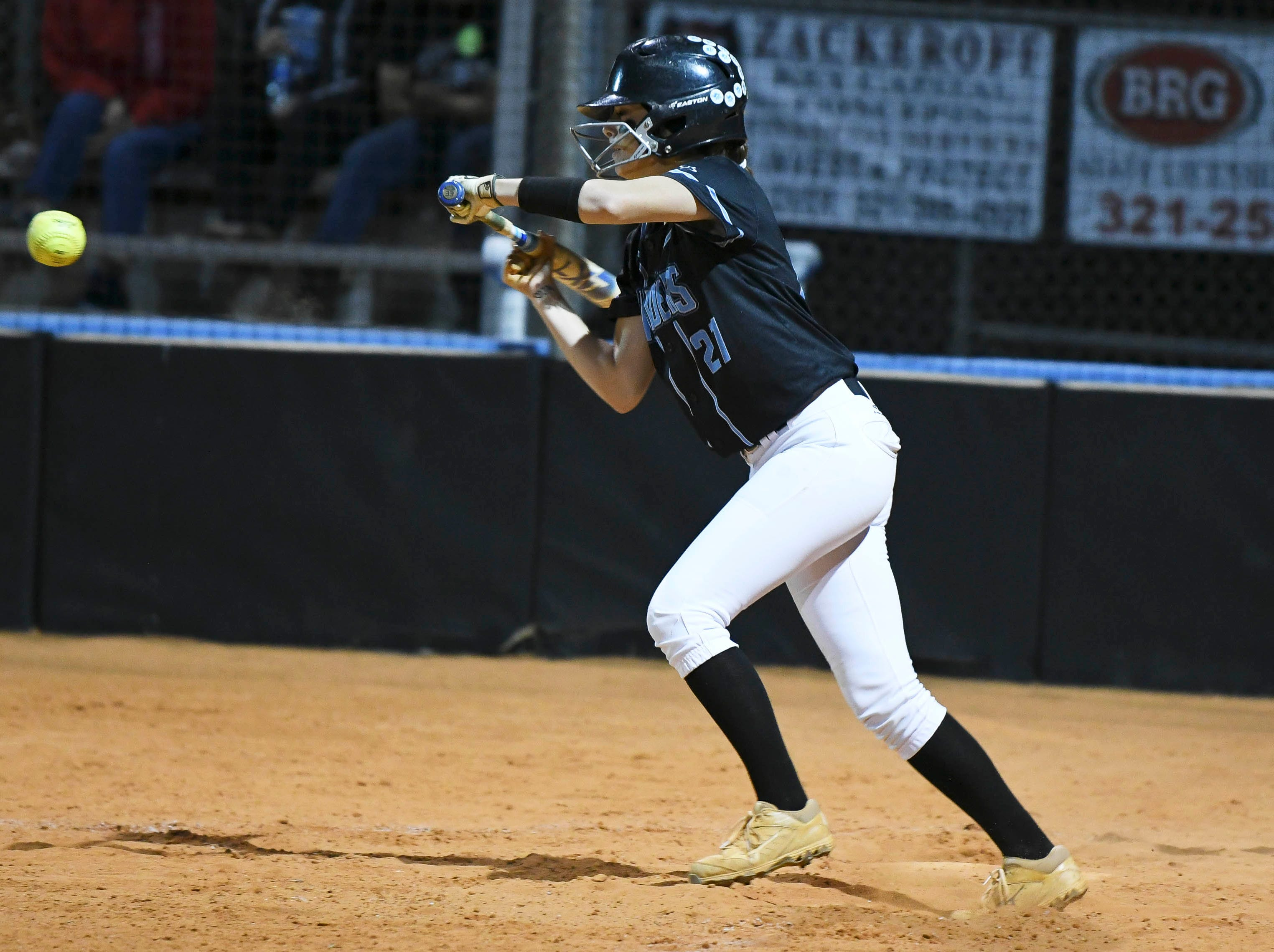 Cali Madonna of Rockledge attempts a bunt during Wednesday's game against Astronaut.