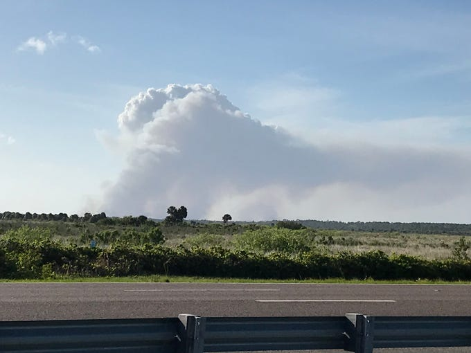 Prescribed fire west of I-95 between Hwy. 50 and Mims, exit 223.