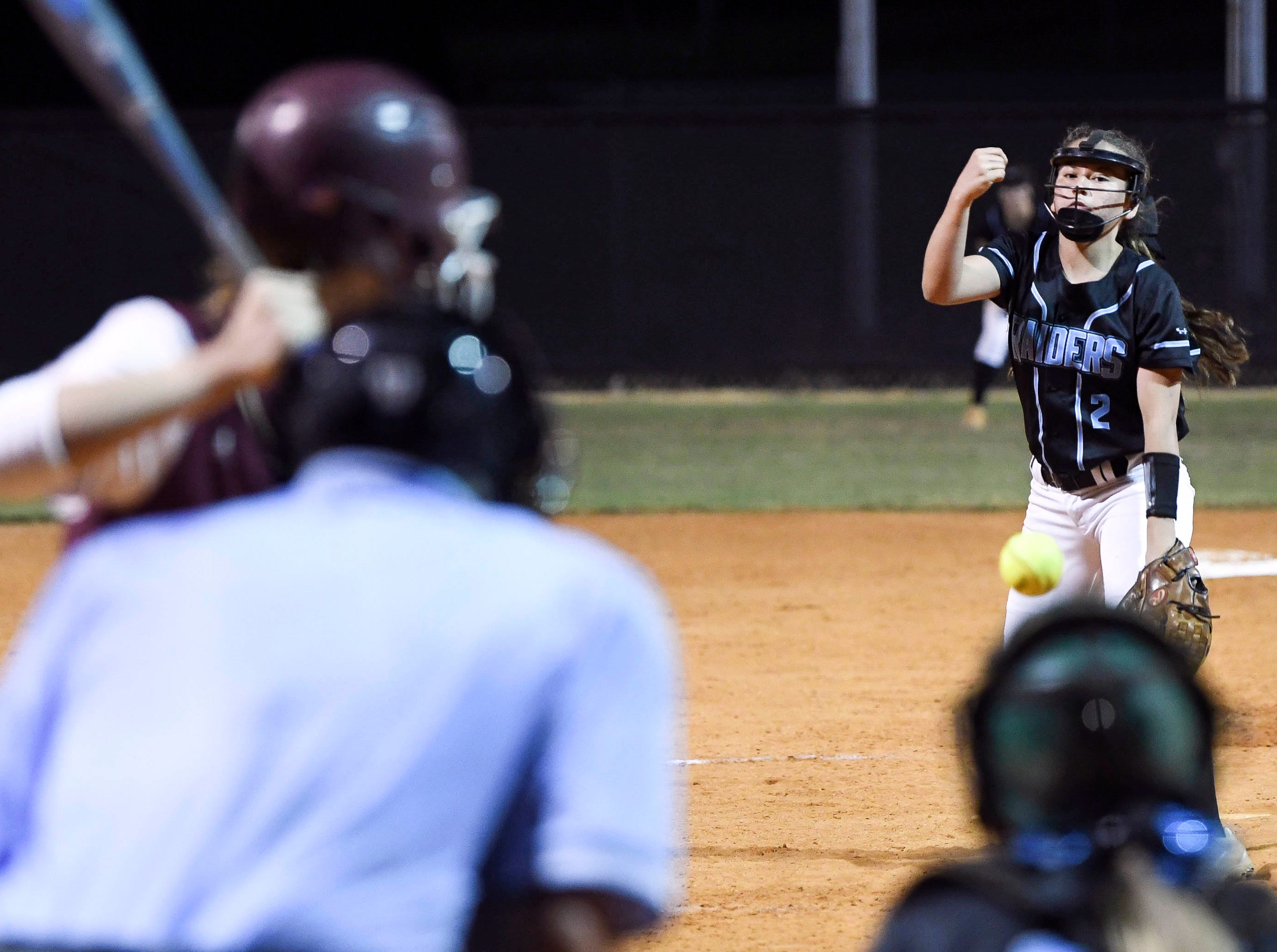 Jenna Garza pitches for Rockledge during Wednesday's game against Astronaut.