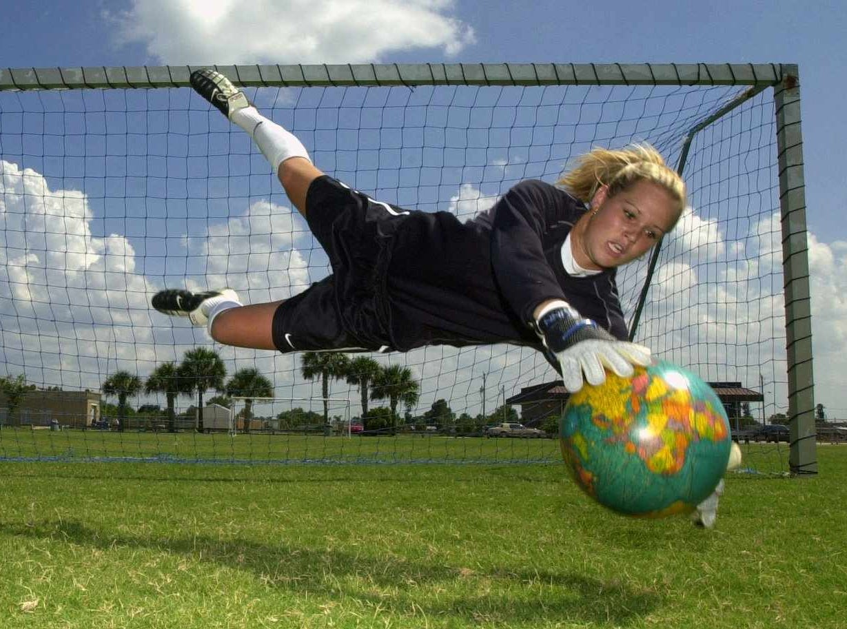 Ashlyn Harris, 16, of Satellite Beach, has traveled the world in preparation for Junior World Cup event in Canada.Here she is a Sea Park Soccer field.